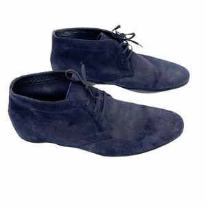 Harry's of London Dwayne navy suede Chukka boots